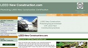 Home page for LEED New Construction.com, which provides articles on LEED New Construction certification and green buildings, and a directory of LEED new construction-related links.