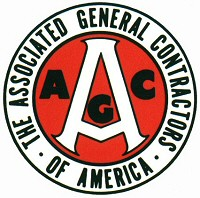 Logo for Associated General Contractors of America (AGC) - General Contractor Commercial construction company Bob Moore Construction is a member of AGC